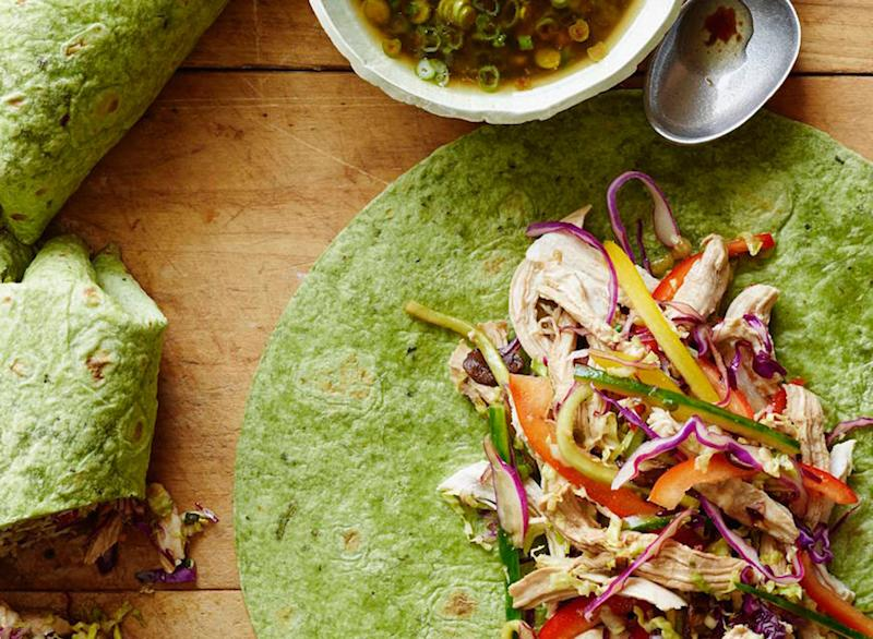 ginger scallion chicken wraps