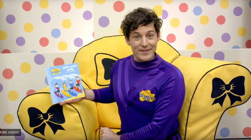 The Wiggles member Lachy reads the book Splish, Splash, Safety on the Big W YouTube channel.