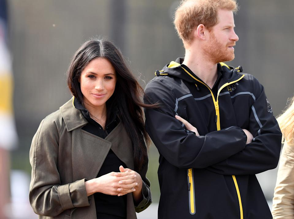 The couple visited the University of Bath today for the Invictus Games team trials [Photo: Getty]