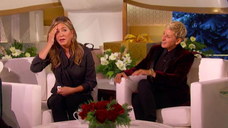 Jennifer Aniston Is Moved to Tears During Ellen DeGeneres' Christmas Giveaway Special