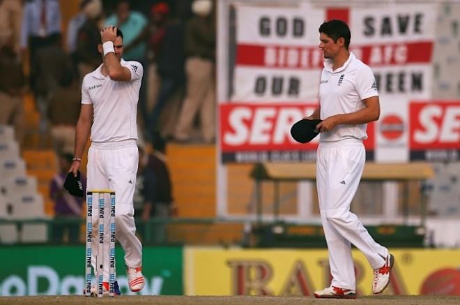James Anderson Alastair Cook England