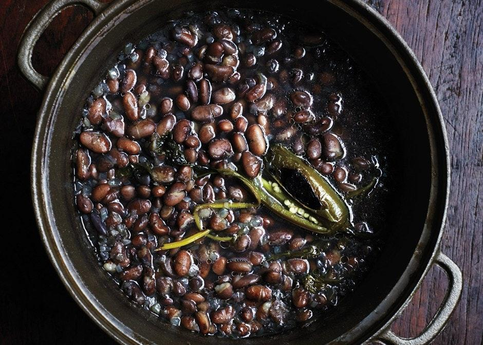 """Our no-soak bean recipe is foolproof and ripe for improvisation. Throw in whatever moves you and simmer away. <a href=""""https://www.bonappetit.com/recipe/pot-o-beans?mbid=synd_yahoo_rss"""">See recipe.</a>"""