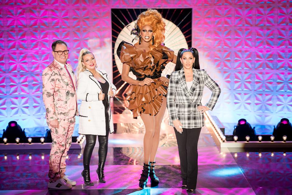 RuPaul's Drag Race UK series 2 - Alan Carr, Sheridan Smith, RuPaul, Michelle Visage - (World of Wonder/Guy Levy)