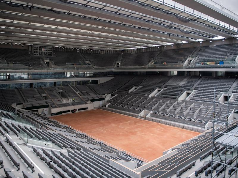 A retractable roof has been built over Philippe Chatrier and may well come in use this year (AFP via Getty Images)