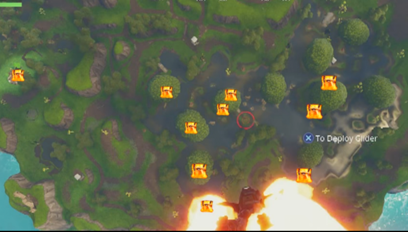 'Fortnite' Moisty Chest Map