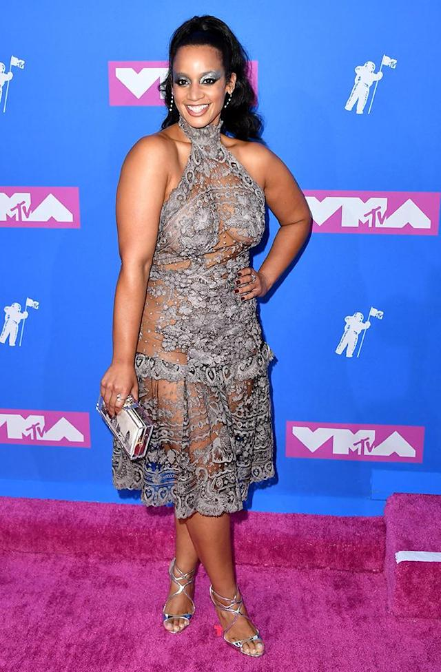 <p>Dascha Polanco attends the 2018 MTV Video Music Awards at Radio City Music Hall on August 20, 2018 in New York City. (Photo: ANGELA WEISS/AFP/Getty Images) </p>