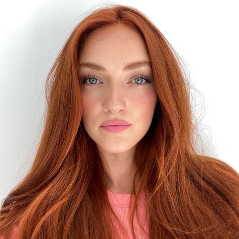 """Looking to refresh your red after quarantine? Try a bright, sunny shade for summery vibes. """"This color works great on faded red hair that needs a breath of new life in it,"""" says celebrity colorist <a href=""""https://www.instagram.com/jeremytardo/"""" rel=""""nofollow noopener"""" target=""""_blank"""" data-ylk=""""slk:Jeremy Tardo"""" class=""""link rapid-noclick-resp"""">Jeremy Tardo</a>. For a similar shade, he suggests asking your stylist for a light auburn hue with peachy tones."""