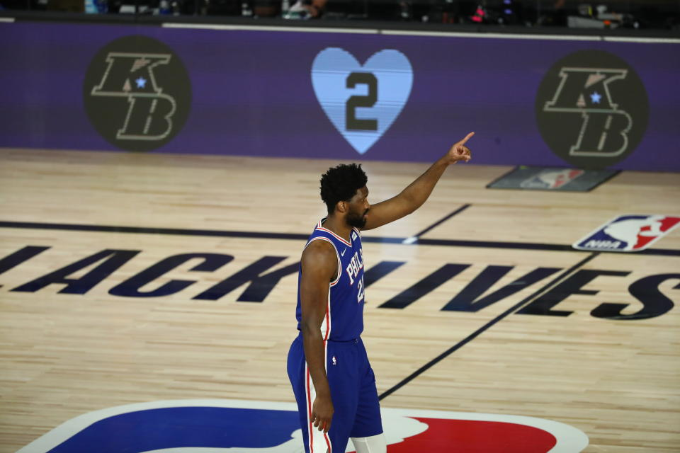 費城76人中鋒Joel Embiid。(Kim Klement/Pool Photo via AP)
