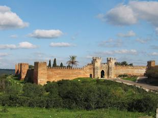The walls of Chellah, just outside the city center of Morocco's capital, Rabat.