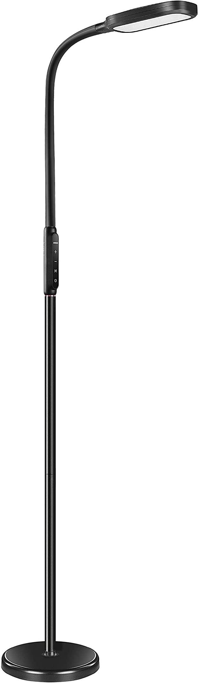 <p>This <span>Miroco LED Floor Lamp with 5 Brightness Levels &amp; 3 Color Temperatures</span> ($50) is an awesome lamp, and gives plenty of light while still being sensitive to nighttime.</p>