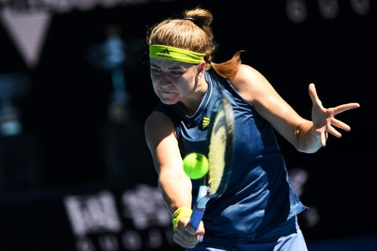 Czech Republic's Karolina Muchova ousted world number one Ashleigh Barty to reach the semi-finals