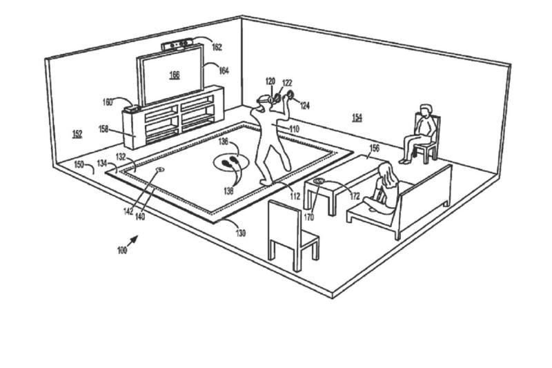 Microsoft patent application describes a vibrating floor mat for VR class=