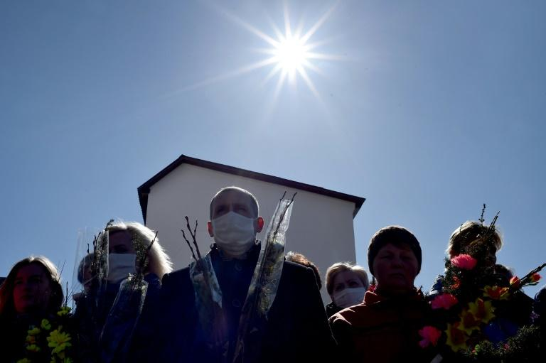 Belarus has reported 1,486 cases of the virus, 16 of whom have died