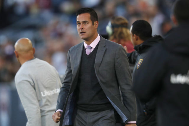 Mike Petke was fired by Real Salt Lake after he reportedly hurled homophobic slurs at a referee. (AP Photo/David Zalubowski)