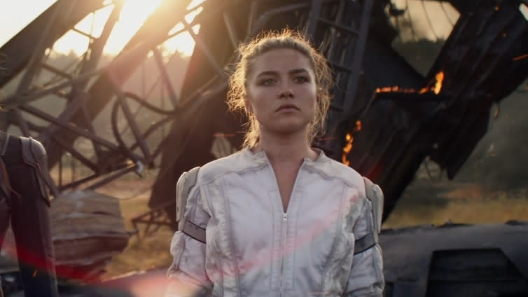 Florence Pugh as Yelena Belova in 'Black Widow'. (Credit: Marvel/Disney)