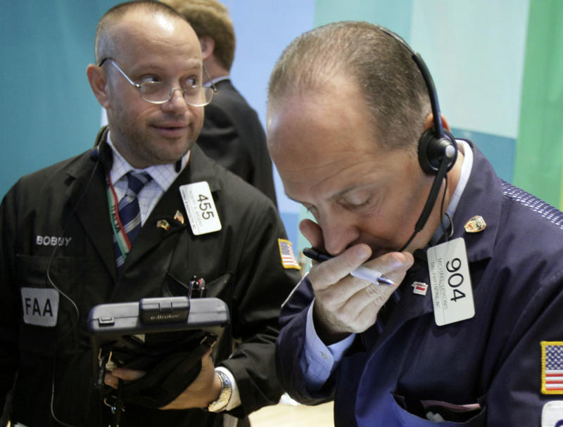 Stocks wobble after Amex earnings, jobless claims