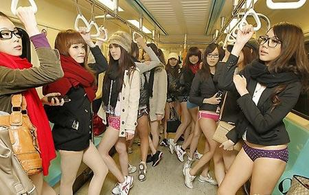 Taiwanese had plenty of reasons to go to work on 'No Pants' Day. (Screenshot: Asiaone.com)
