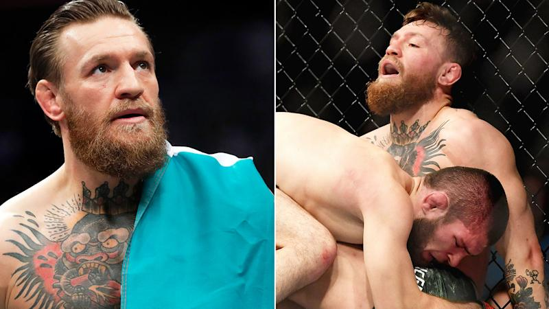 Pictured here, Conor McGregor during his now infamous loss to Khabib Nurmagomedov.