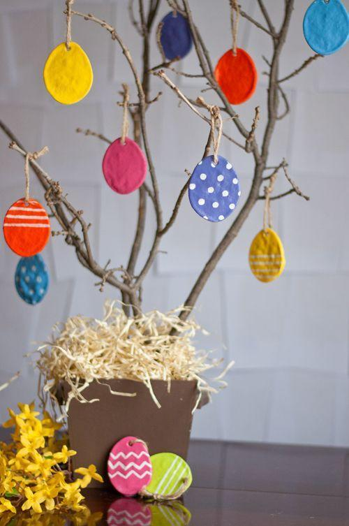 """<p>Kiddos can craft these little works of art to hang from a DIY <a href=""""https://www.womansday.com/home/crafts-projects/g18203689/easter-egg-tree/"""" rel=""""nofollow noopener"""" target=""""_blank"""" data-ylk=""""slk:Easter tree"""" class=""""link rapid-noclick-resp"""">Easter tree</a> fashioned from backyard branches.</p><p><strong>Get the tutorial at <a href=""""https://www.designmom.com/diy-salt-dough-eggs/"""" rel=""""nofollow noopener"""" target=""""_blank"""" data-ylk=""""slk:Design Mom"""" class=""""link rapid-noclick-resp"""">Design Mom</a>.</strong></p>"""