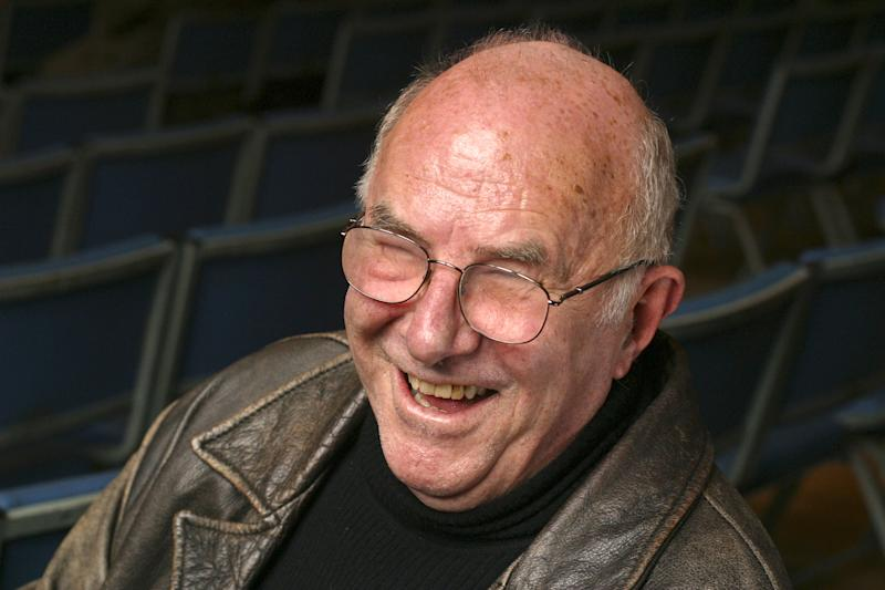 "OXFORD, ENGLAND - MARCH 28: Author, critic and TV presenter Clive James poses for a portrait at the annual ""Sunday Times Oxford Literary Festival"" held at the Oxford Union March 28, 2004 in Oxford, England. James' latest book is titled, ""Even as We Speak."" (Photo by David Levenson/Getty Images)"