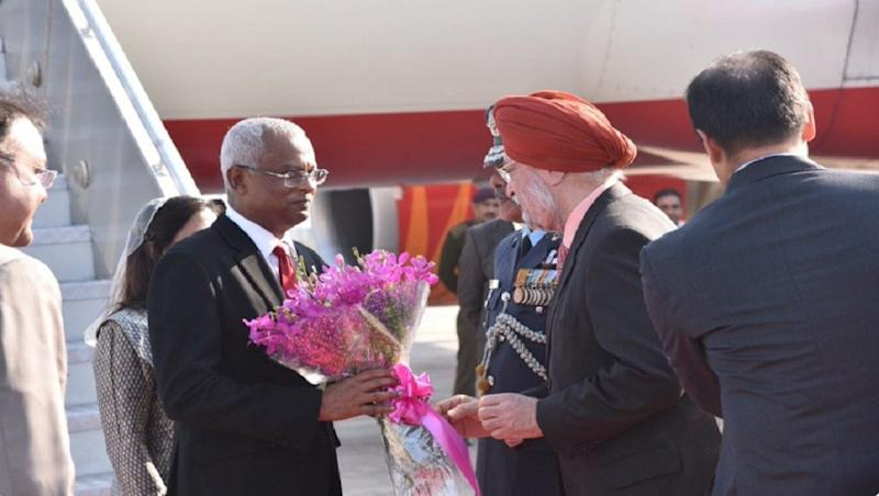 Maldives' President Solih Lands in India on his First Foreign Visit