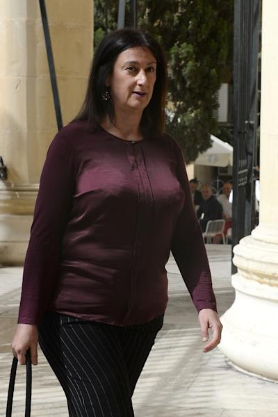 Daphne Caruana Galizia was one of Malta's most prominent public figures thanks to her widely read blog in which she campaigned against corruption (AFP Photo/Matthew Mirabelli)