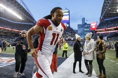 FILE PHOTO - Dec 30, 2018; Seattle, WA, USA; Arizona Cardinals wide receiver Larry Fitzgerald (11) returns to the locker room following a 27-24 loss against the Seattle Seahawks at CenturyLink Field. Mandatory Credit: Joe Nicholson-USA TODAY Sports