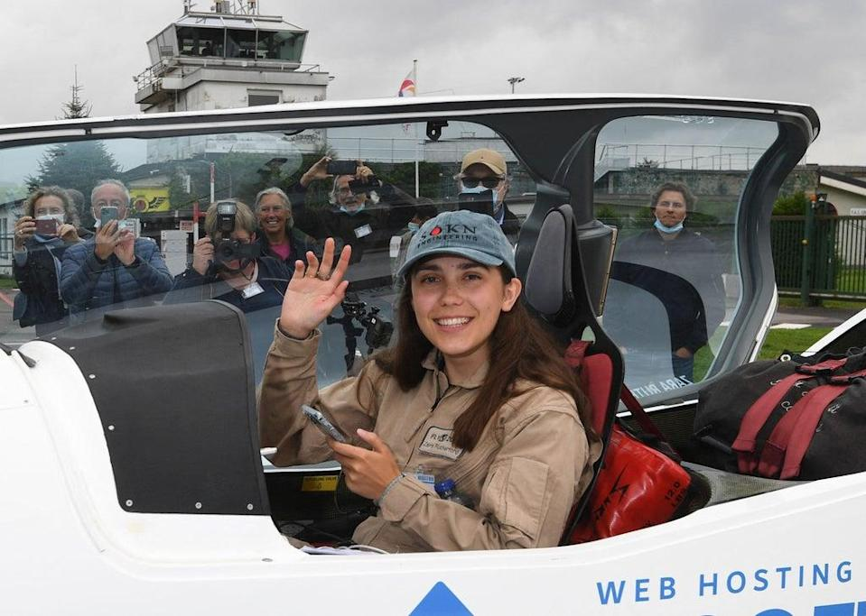 Zara Rutherford took off on her three-month adventure  (AFP via Getty Images)