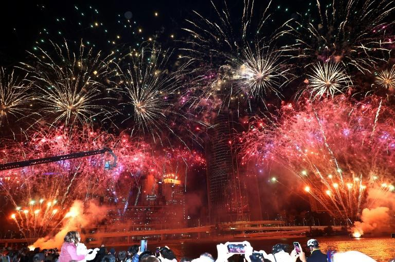 Fireworks filled the sky after Brisbane was named host of the 2032 Olympics