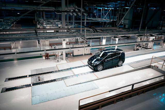 Sono Motor's Sion prototype in the NEVS production plant, Sweden. Photo: Sono Motors