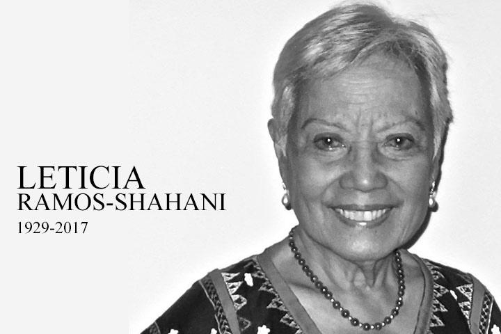 Leticia Ramos-Shahani (Photo from Lila Shahani Facebook)