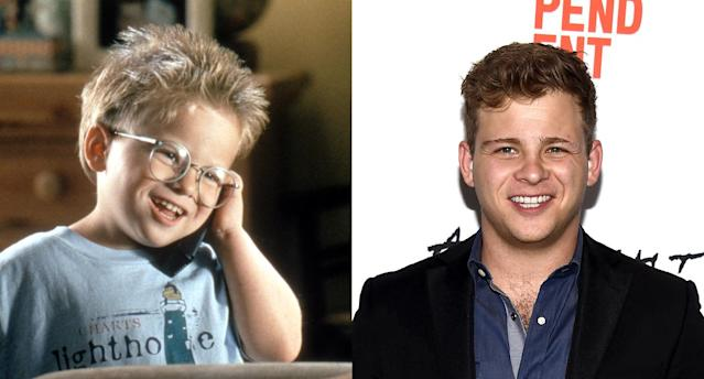 Jonathan Lipnicki in <em>Jerry Maguire </em>and now. (Photo: TriStar Pictures/courtesy Everett Collection/Getty Images)