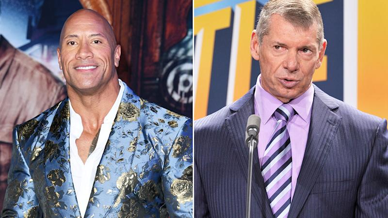 Seen here, Dwayne 'The Rock' Johnson and WWE supremo Vince McMahon.
