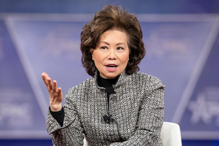 <p>Trump cabinet member Elaine Chao may have violated ethics law, inspector general says</p> (Photo by Samuel Corum/Getty Images)