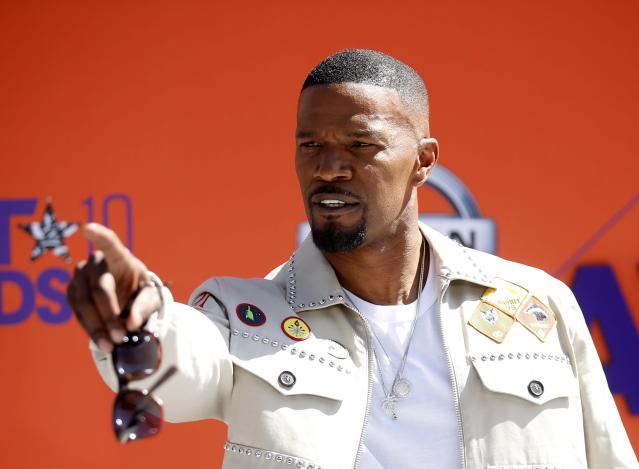 Jamie Foxx arrives for the 2018 BET Awards in Los Angeles on June 24, 2018. (Photo: Reuters/Danny Moloshok)