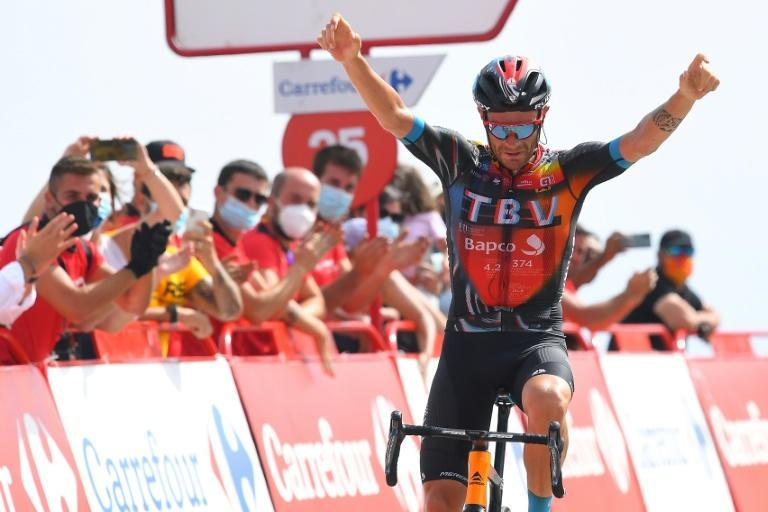 Damiano Caruso took a solo victory on a Vuelta mountain Sunday