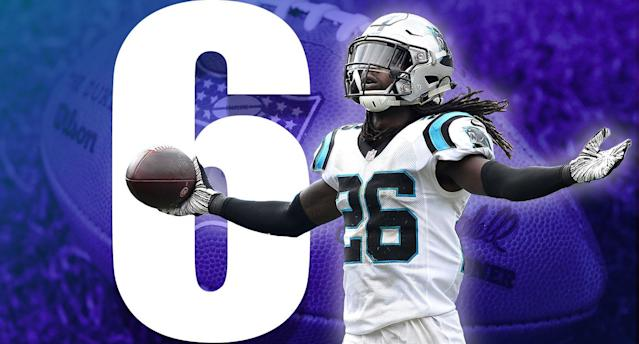 <p>It's from last week but it should be repeated as often as possible: The story of Panthers defensive end Efe Obada is the best in the NFL this year. (Donte Jackson) </p>