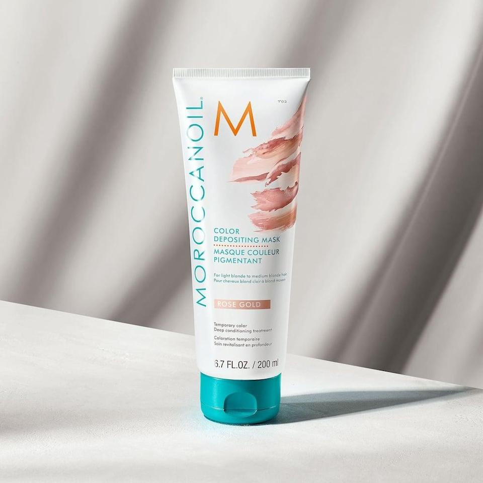 <p>Temporarily give your hair a rose gold hue with this hydrating <span>Moroccanoil Color Depositing Mask</span> ($28).</p>