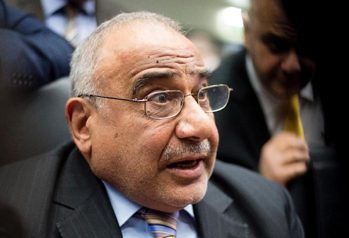 """""""Everyone is concerned about... the prices, no one is happy,"""" Iraq's oil minister Adil Abd Al-Mahdi tells the OPEC meeting (AFP Photo/Joe Klamar)"""