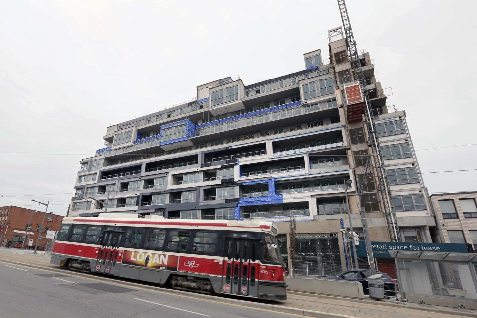 TORONTO, TORONTO, ON - Condo and commercial development under on St. Clair Ave. near Winona Dr. (Getty)