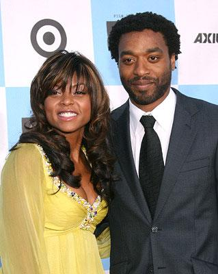 """Premiere: <a href=""""/movie/contributor/1804514499"""">Taraji Henson</a> and <a href=""""/movie/contributor/1808492654"""">Chiwetel Ejiofor</a> at the Los Angeles Film Festival premiere of Focus Features' <a href=""""/movie/1809720575/info"""">Talk to Me</a> - 06/21/2007<br>Photo: <a href=""""http://www.wireimage.com"""">Jesse Grant, WireImage.com</a>"""