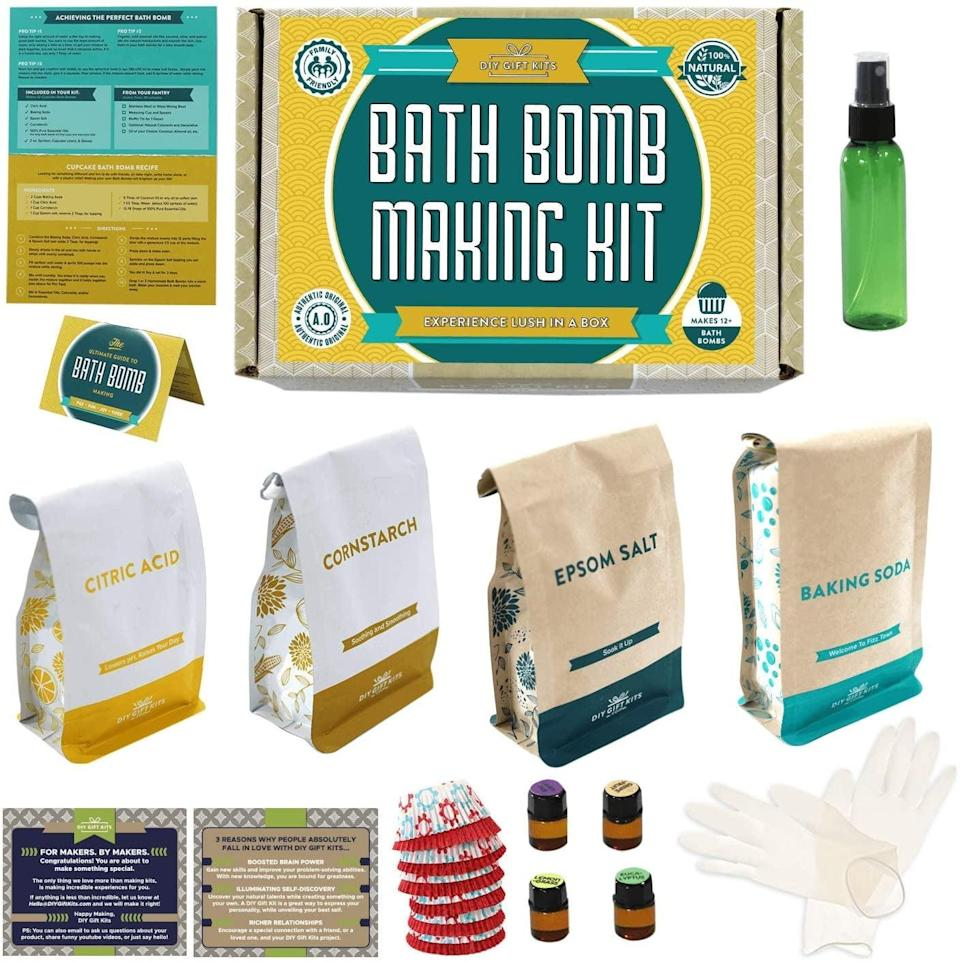 <p>Bath bombs aren't just relaxing to use but also to make! This <span>Bath Bomb Kit</span> ($40) is perfect for someone who loves their bath bombs.</p>