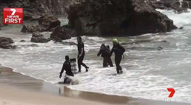Rescue crews searched Saturday and Sunday for the boy. Source: 7 News