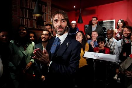 Paris mayoral dissident candidate from La Republique En Marche (LREM) Cedric Villani attends a meeting to announce his candidature in the forthcoming mayoral election in Paris