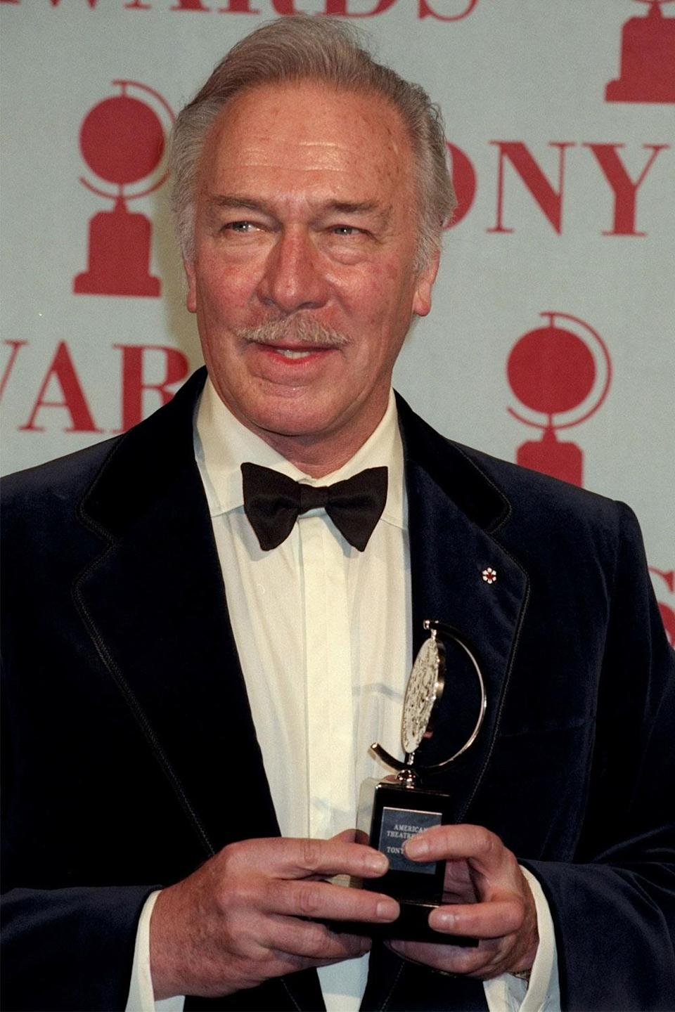 <p>Between 1959 and 2007, Plummer received seven Tony Award nominations, winning for 1974's <em>J.B.</em> and 1997's <em>Barrymore</em>. Though not an EGOT, he is one of few actors to have attained the Triple Crown of Acting, winning an Academy Award, Emmy Award and Tony Award.</p>