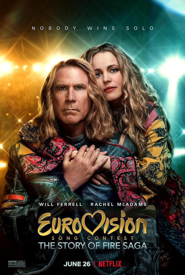 Key art for Eurovision Song Contest: The Story of Fire Saga. (Netflix)