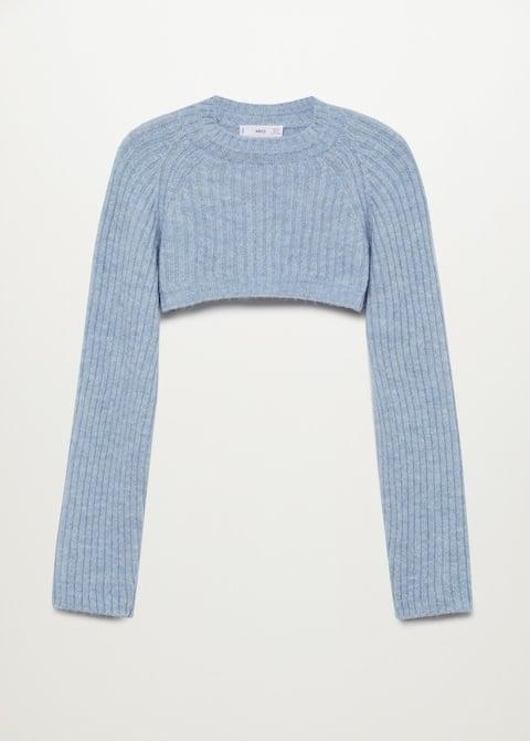<p>If you're into the cropped sweater trend, try styling this <span>Mango Knitted Cropped Sweater</span> ($40).</p>
