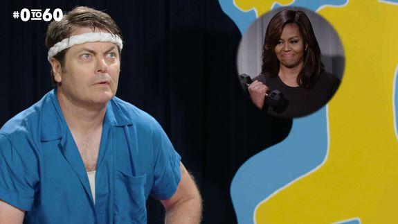 Michelle Obama and Nick Offerman show us the history of exercise