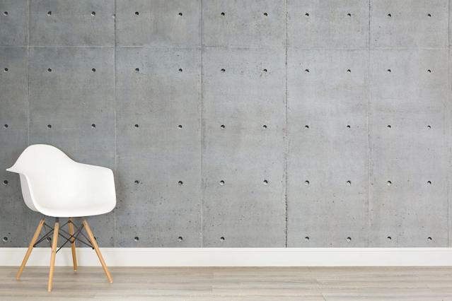 "<p>Nothing says 'give a damn' like concrete. With its brutalist, what-you-see-is-what-you-get look, it will rough up even the sleekest of rooms. Just the thing for bland spaces in need of attitude.</p> <p><strong>Murals Wallpaper</strong> Bare Concrete Wall Mural, £25 per square metre, available at <a href=""http://www.muralswallpaper.co.uk/shop-murals/bare-concrete-wall-wallpaper-mural/"" rel=""nofollow noopener"" target=""_blank"" data-ylk=""slk:Murals Wallpaper"" class=""link rapid-noclick-resp"">Murals Wallpaper</a></p>"