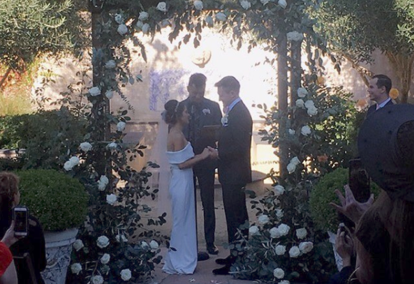 Their engagement party turned into the wedding day, thanks to the help of loved ones and strangers. Photo: Instagram